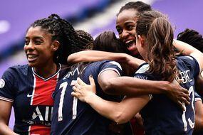 Ashley Lawrence, Marie-Antoinette Katoto et toutes les Parisiennes savourent leur épatante qualification pour les demi-finales de Ligue des champions. JEFF PACHOUD