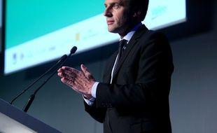 Emmanuel Macron, le candidat d'En Marche, à Paris le 13 avril 2017.