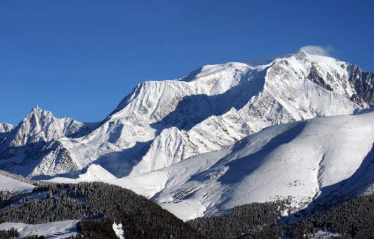 Le massif du Mont Blanc vu depuis Megève, en Haute-Savoie, le 8 décembre 2011 – Jean-Pierre Clatot AFP