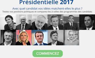 La boussole présidentielle 2017 développée par le Cevipof en partenariat avec «20 Minutes».