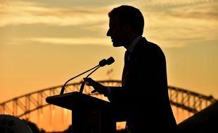 Emmanuel Macron à Sydney, en Australie, le 2 mai 2018.