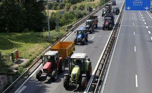 Les agriculteurs de Lyon ont prévu de mener une opération escargot sur les autoroutes A47 et A7, au Sud de Lyon, ce mercredi 21 février 2018.