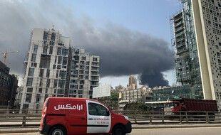 Un incendie s'est déclaré à Beyrouth, le 10 septembre 2020.