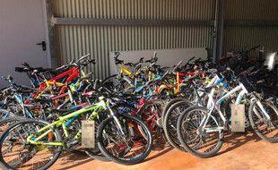 Les vélos retrouvés par les gendarmes de Montpellier