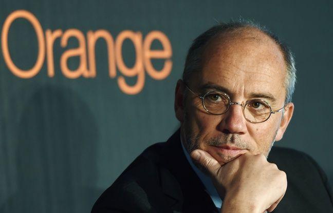 Stéphane Richard, le PDG d'Orange, à Villeurbanne , le 6 février 2014.