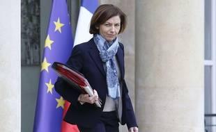 Florence Parly à la sortie du Conseil des ministres, en mars 2020
