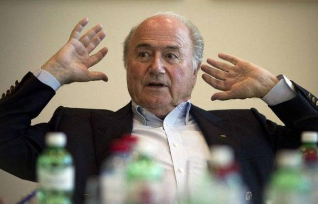 Le président actuel de la Fifa, Sepp Blatter, candidat à sa réélection, pendant une interview en mai 2011.