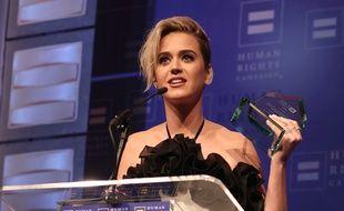 Katy Perry au gala de la Human Rights Campaign, à Los Angeles le 18 mars 2017, a reçu le prix de l'Egalité pour son engagement en faveur des droits des personnes LGBT.