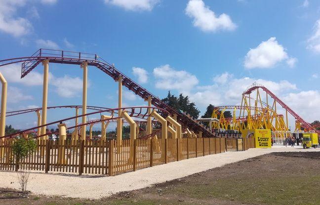 Une attraction du parc Spirou