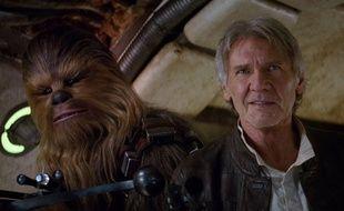 Chewbacca et Han Solo (Peter Mayhew et Harrison Ford) dans «Star Wars 7».