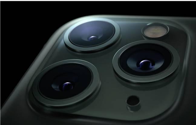 Le triple capteur photo des iPhone 11 Pro et iPhone 11 Pro Max.