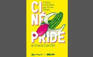 L'affiche prévisionnelle de la 13e édition deCinépride, programmée du 31 mai au 7 juin.