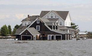 Les conséquences du passage de l'ouragan Sandy dans le New Jersey (Etats-Unis), le 2 novembre 2012.