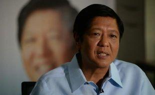 Ferdinand Marcos Junior lors d'une interview à l'AFP le 18 avril 2016 à Manille