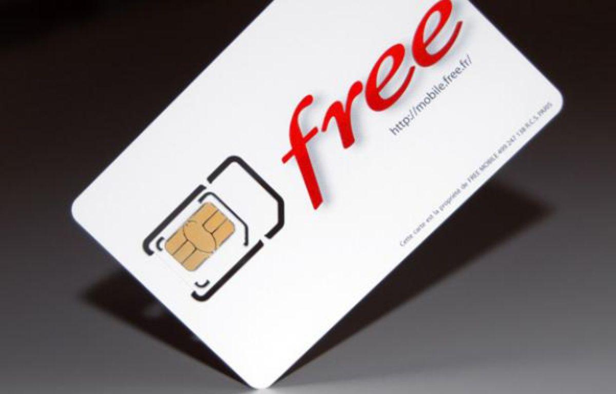 Free Mobile a dévoilé ses cartes SIM lundi 9 janvier 2012 sur Internet.  – Free Mobile / Iliad