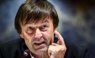 Nicolas Hulot le 30 novembre dernier dans les locaux des Nations Unies à Genève.