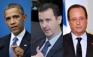 Barack Obama, Bachar al-Assad et François Hollande (montage 20 Minutes).