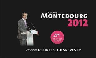 Capture d'écran du clip officiel du candidat socialiste à la primaire Arnaud Montebourg, le 27 juin 2011.