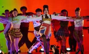 Dua Lipa lors des Brit Awards 2021