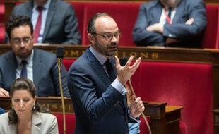 Edouard Philippe durant la séance hebdomadaire de questions au gouvernement, le 27 mars 2018.