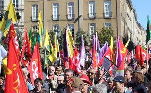 Environ 3.000 personnes avaient défilé dans les rues de Rennes le 1er mai à l'appel des syndicats.