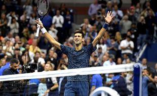 Novak Djokovic a remporté l'US Open face à Juan Martin Del Potro, le 9 septembre 2018.