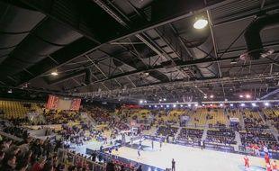 Strasbourg le 3 février 2016. Basket SIG vs Gran Canaria. Eurocup au Rhénus sport. Ambiance et supporters
