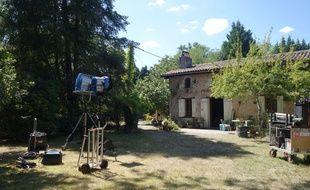 Illustration d'un tournage à Hostens (Gironde)