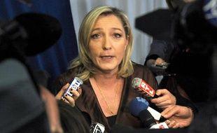 Marine Le Pen, lors d'une réunion publique à Lille, le 5 mars 2011.