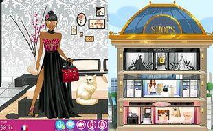 Le jeu permet de créer sa Dollz, avant de la faire évoluer dans son univers.