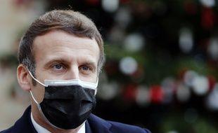 Emmanuel Macron à l'Elysée, le 16 décembre 2020.