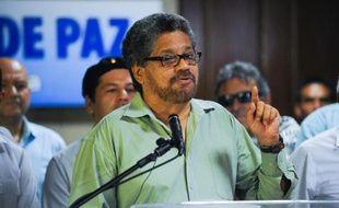 Ivan Marquez, le représentant des Farc aux négociations de La Havane, le 29 mai 2015