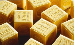 Des cubes de savon de Marseille (illustration).