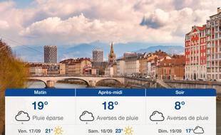 Météo Grenoble: Prévisions du jeudi 16 septembre 2021