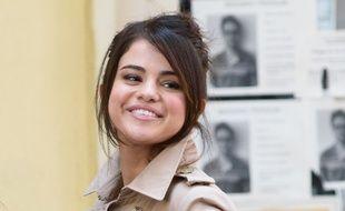 La chanteuse et actrice Selena Gomez sur le tournage du prochain film de Woody Allen à New York