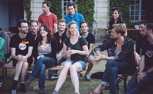 Des participants du camp d'innovation collaboratif POC21 cet été en région parisienne.
