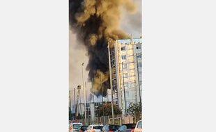 L'incendie dans une pépinière d'entreprises de Villeurbanne s'est déclaré au petit matin du mardi 8 octobre.