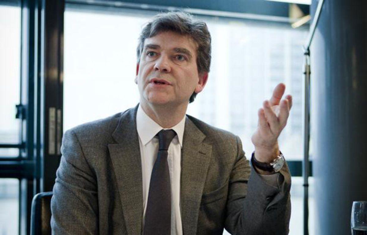 Le ministre du Redressement productif Arnaud Montebourg, le 27 février 2013 à Bercy. – V.WARTNER / 20 MINUTES