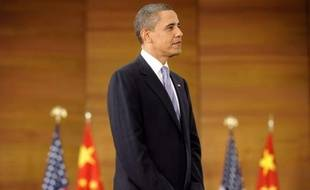 Barack Obama à Shanghai, en Chine le 16 novembre 2009