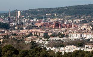 La ville de Gardanne avec l'usine Alteo (photos d'archives)