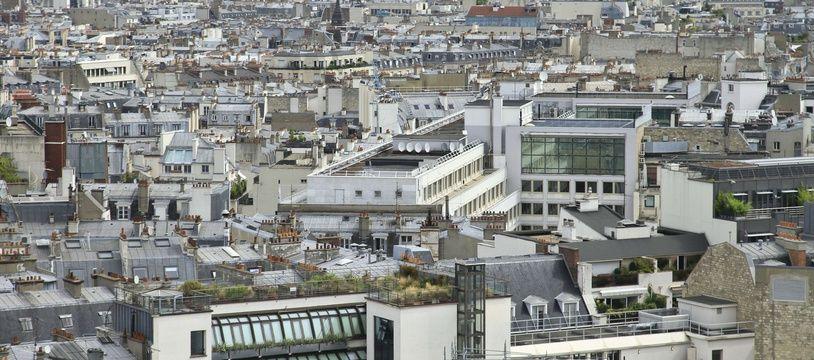 Une vue de Paris. (illustration)