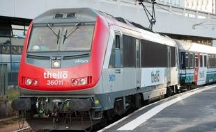 Un train de la compagnie Thello.