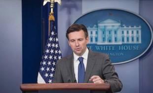 Josh Earnest, porte-parole de la Maison Blanche, le 5 octobre 2015, à Washington DC