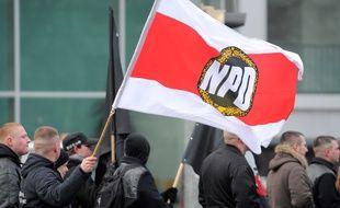 Un défilé d'extrême droite dans la ville de Dresde en Allemagne