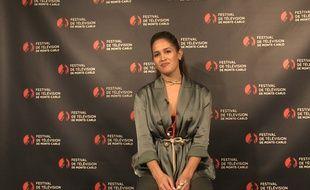 Jaina Lee Ortiz, lors du festival de télévision de Monte-Carlo, devant la caméra de «20 Minutes».