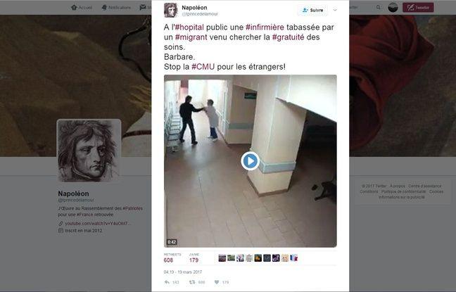 Cette vidéo d'une infirmière française agressée par un étranger est une intox relayé sur Twitter et partagée plus de 600 fois