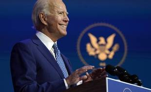 Joe Biden, le 9 novembre 2020.