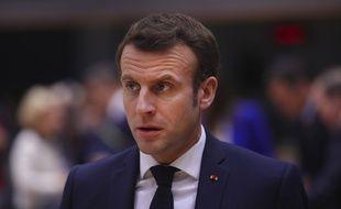 Emmanuel Macron, le 20 février 2020.