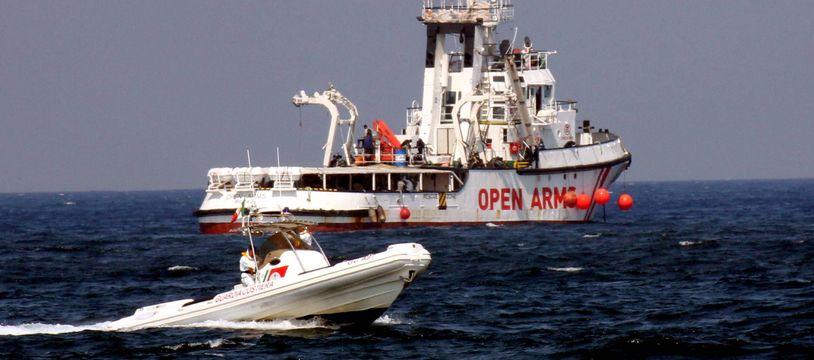 Un bateau de sauvetage de migrants de l'ONG Open Arms.