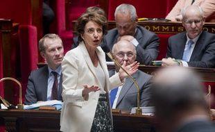 Marisol Touraine, lors des questions au gourvernement à l'Assemblée Nationale, le 10 avril 2013.